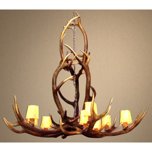 Idaho Real Antler Elk Chandelier CD-ELKYLST