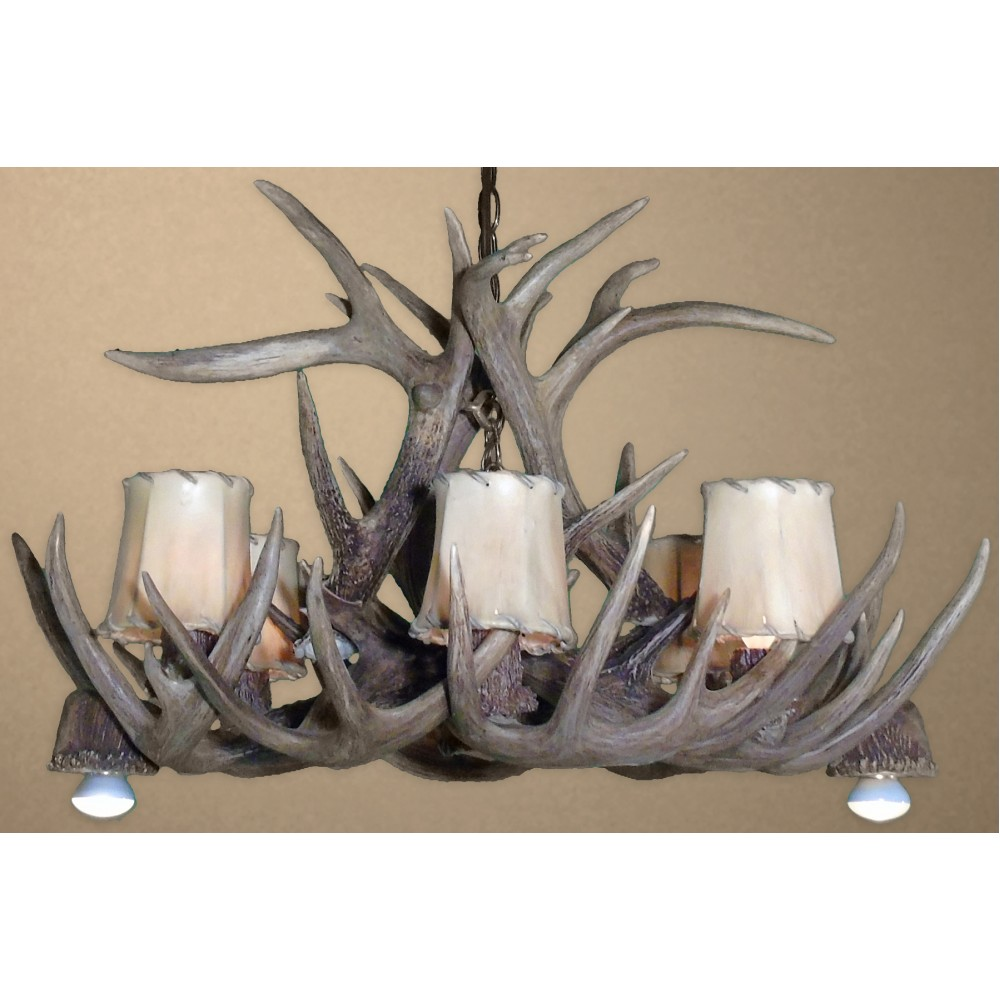 Real Antler Whitetail Pool Table Chandelier WTP