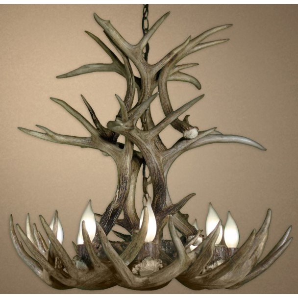 Santa Fe Real Antler White-Tail Cascade Chandelier CD-WTC