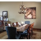 Real Antler Whitetail Cascade Chandelier WTC
