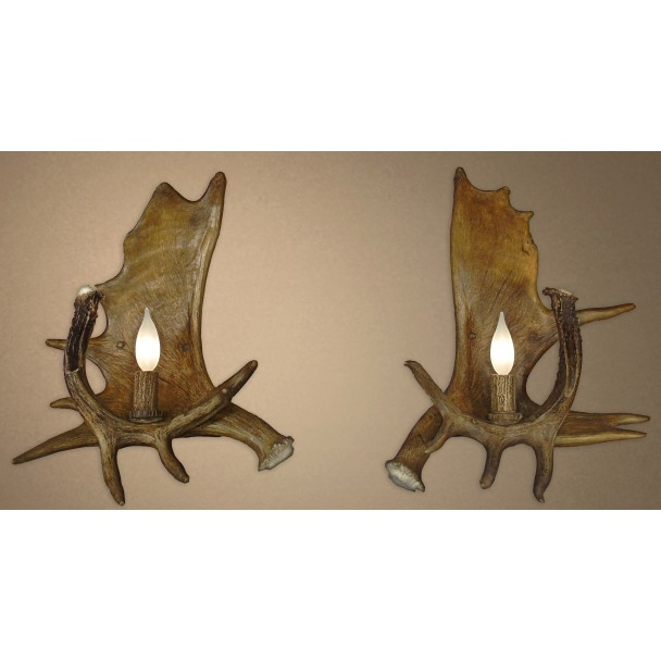 Real Antler Moose / Whitetail Deer Sconce SC3 - Deer Antler